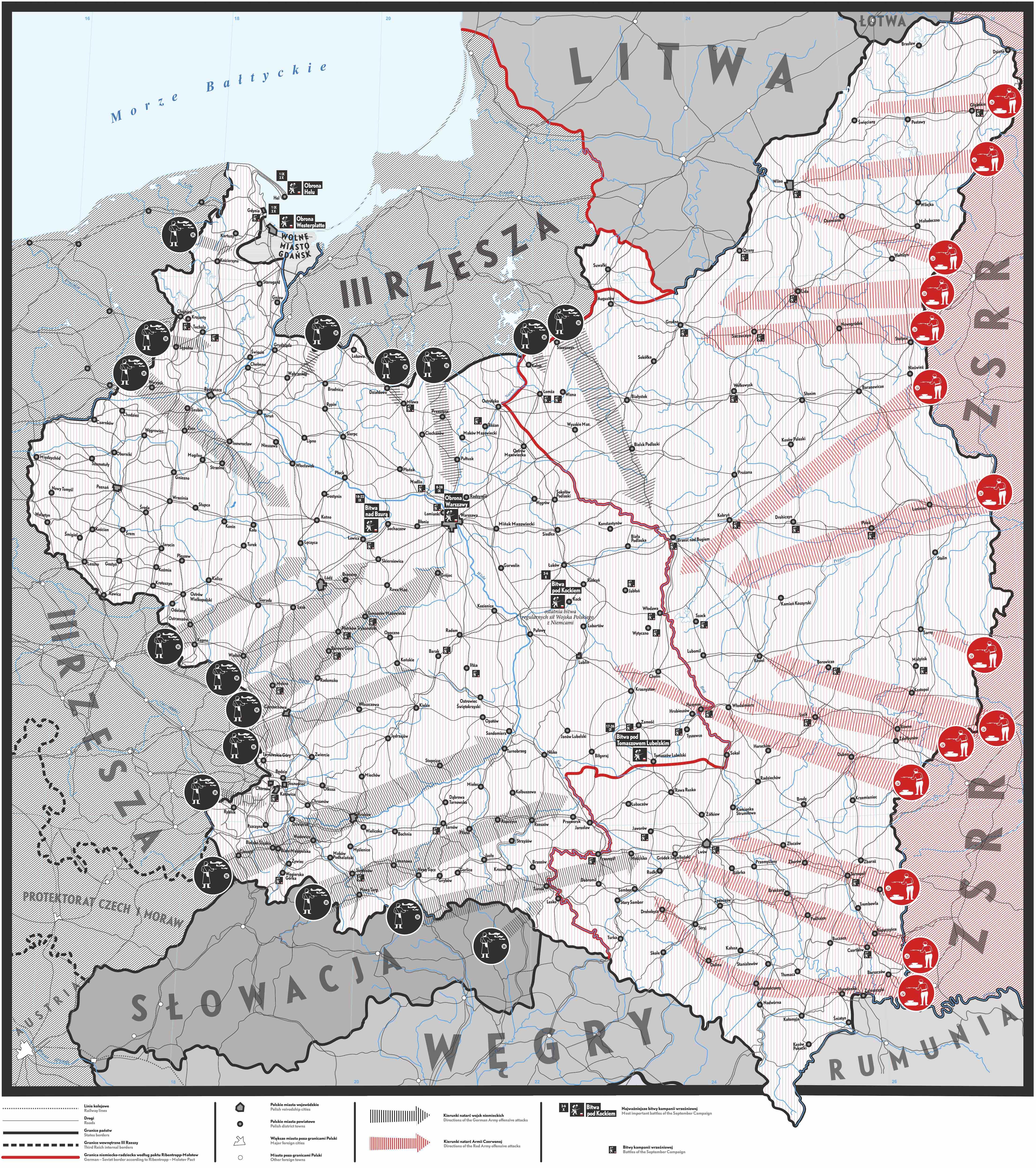 Mapa przemieszczania się oddziałów Einsatzgruppen od lata 1941 r.