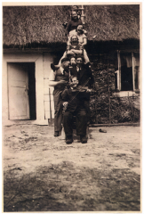 The Gawrych family with Jews, who were rescued in their house