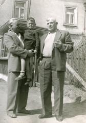 Marek Golecki in his father's arms