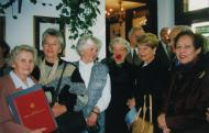 Sabina Heller (second from the right) with sisters