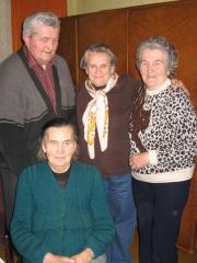 From the left: Stanislaw Laska, the rescued Miriam Chasson, April 2009