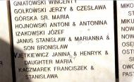 A fragment of YV wall with the Jętkiewicz family names