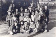 Sima at the Jewish orphanage in Lodz, stands third from the right1946