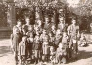 Sima at the Jewish orphanage in Lodz, 1946