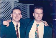 Yair (on the right) and Amit, the sons of Sabina and Mosze Korn at the wedding of Amit and Alona. 1993