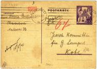 A postcard sent from Kobe, Japan, by Grzegorz Lampert to Warsaw ghetto to his parents-in-law