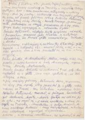 A page of a manuscript of Mieczysław Mussil's reminescences about Pawiak