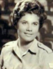 Sabina Heller during her military service in 1960.
