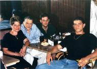 Sabina Heller with her husband and sons in 1996.