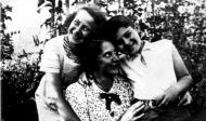 Regina Fern with her mother and brother murdered in Belzec