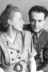Miroslaw Kremky with his wife Irena in 1946