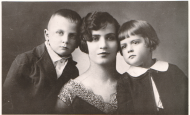 Zofia Lisowska with her sons