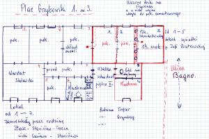 plan of the flat in 1, Grzybowski Square in Warsaw